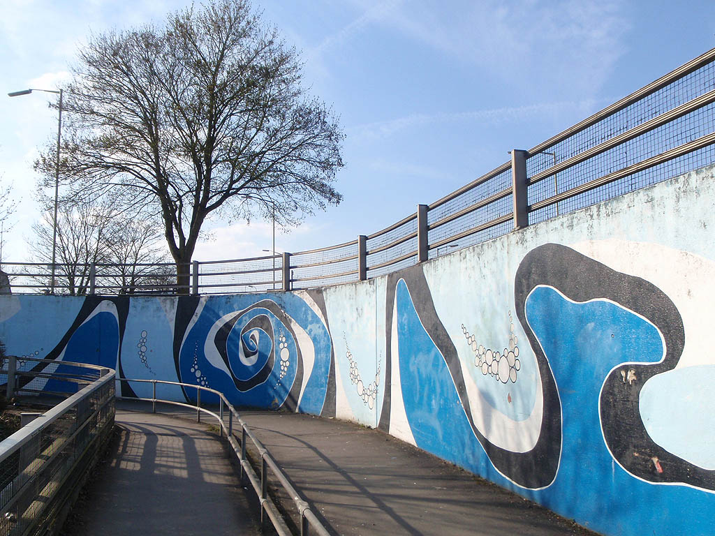Underpass and wall art