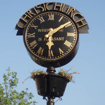 Christchurch town clock