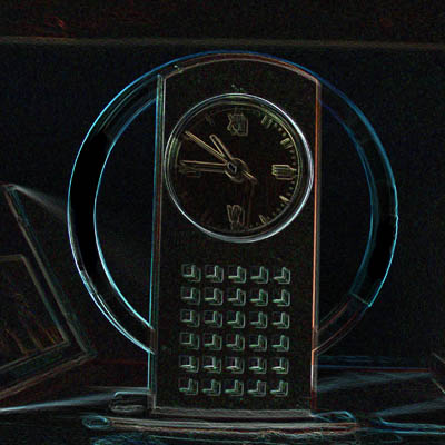 Glowing Edge Clock