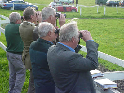 Watching the races at Larkhill