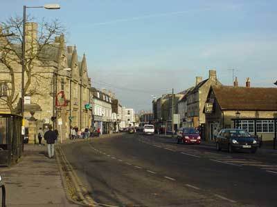 Melksham High Street from Market Place
