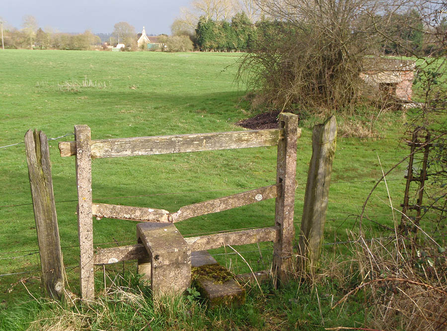 Stile, Pillbox, Field and Church