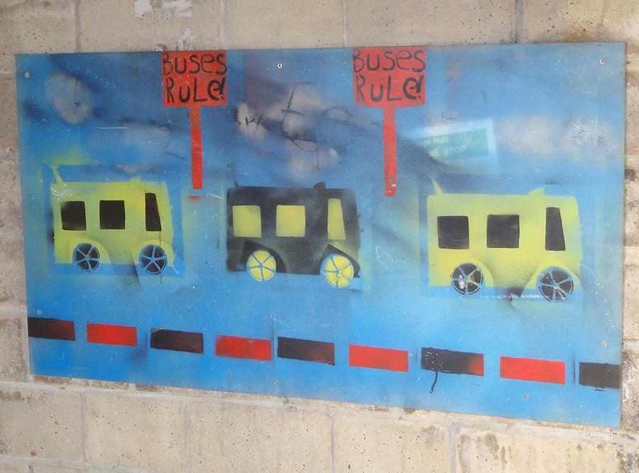 Art in bus shelter