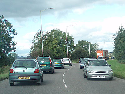 Typical traffic around Melksham