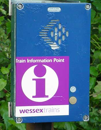 Information point at Avoncliff station
