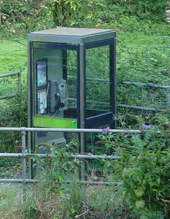 Public phone at Avoncliff Station