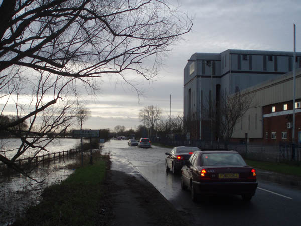 road bordering supermarket site, 12th January 2008