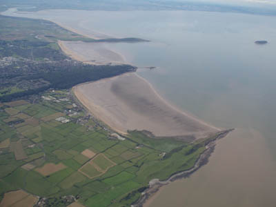 Weston-super-mare from the air