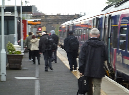 Leaving the train at Alloa new station