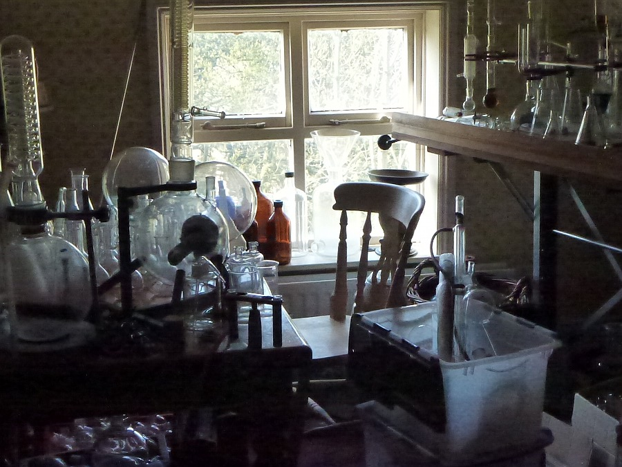 Historic chemical lab equipment at All Science