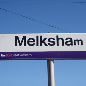 Melksham station sign