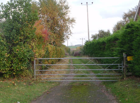 Trackbed of Lankhill Military Railway towards Ratfyn