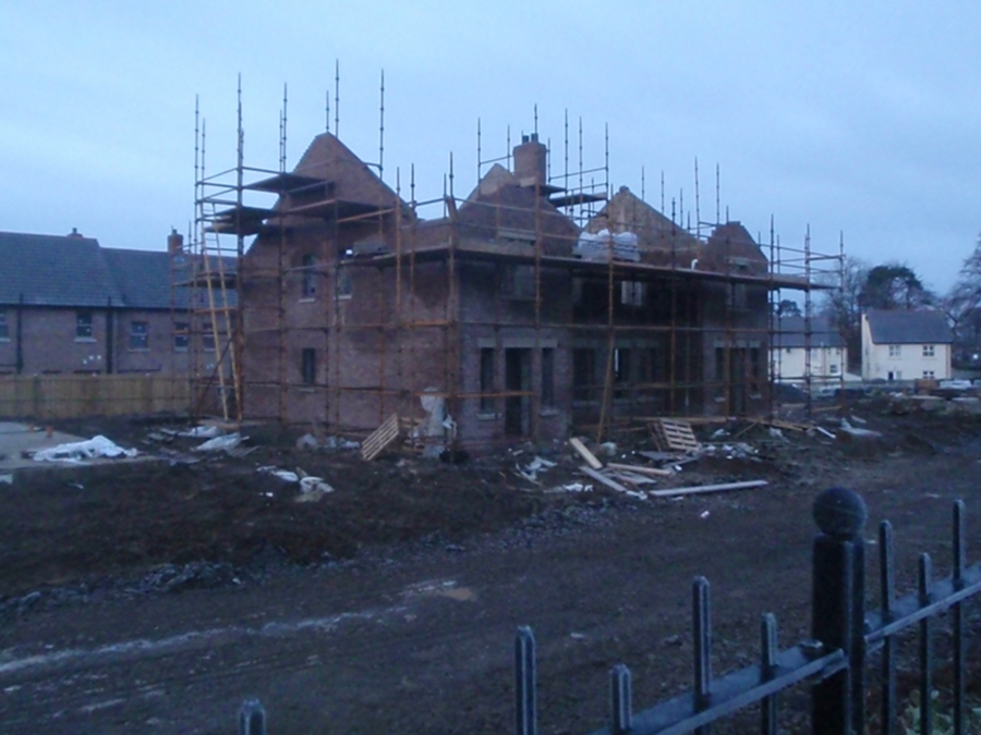 New house being built in Antrim