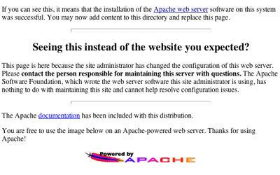 Apache httpd 2.0 - install screen