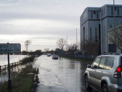Floods outside Countrywide Farmers /Asda site