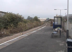 Empty Melksham Station