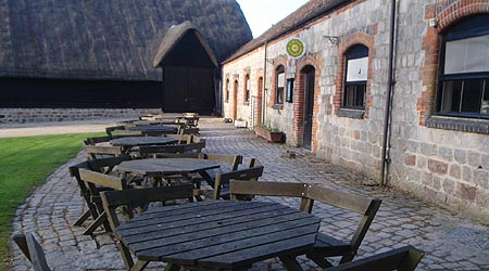 Farmyard, barn and cafe at Avebury