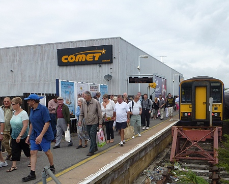 Train arrived at Weymouth, Dorset