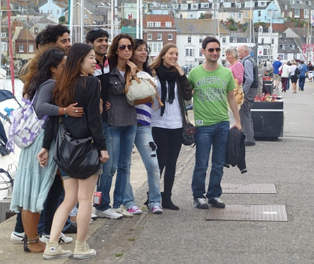Tourist group, Weymouth, Dorset