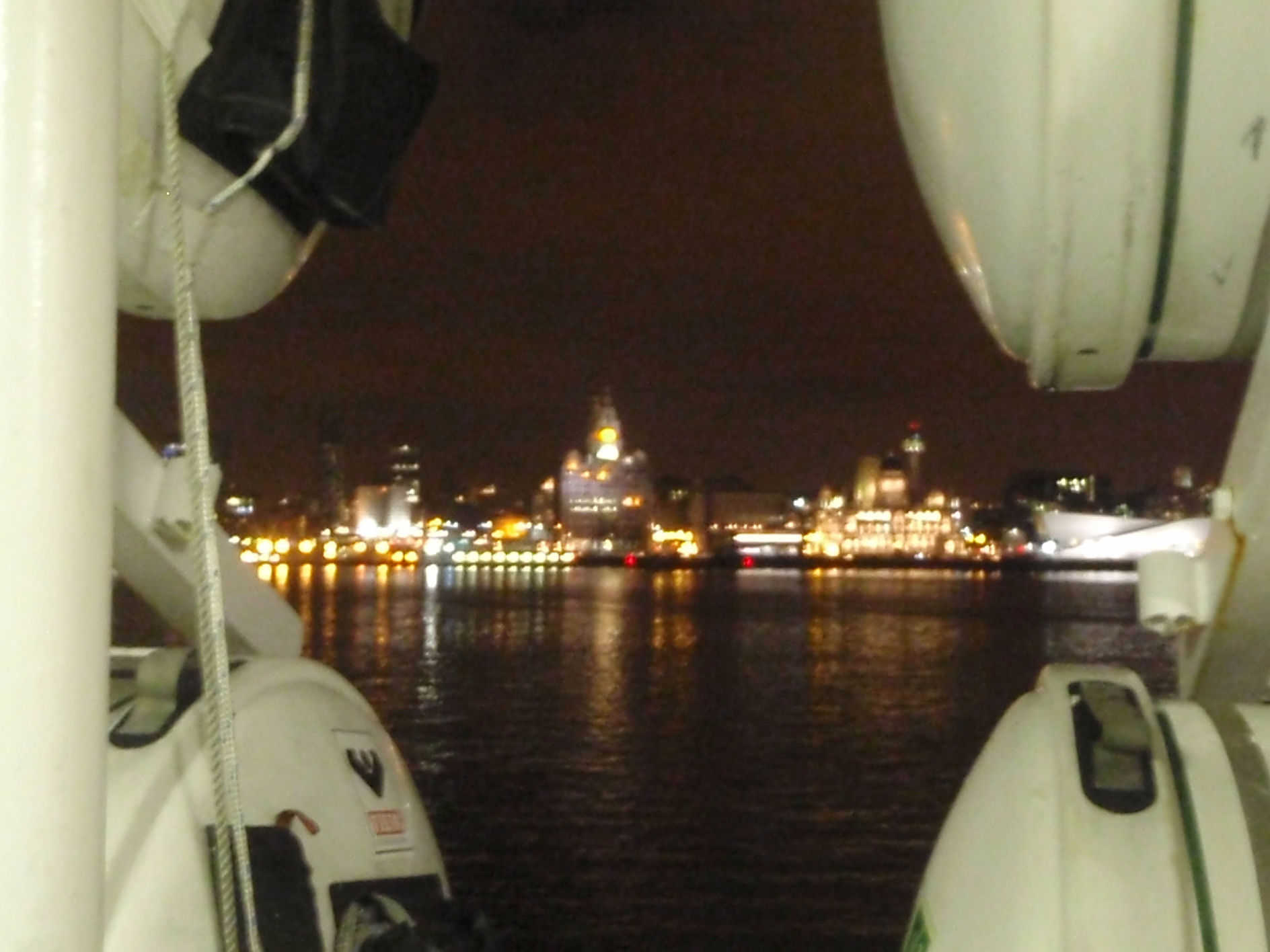 From the boat in Birkenhead - view over the Mersey to Liverpool