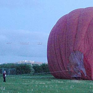 Collapsing Hot Air Balloon