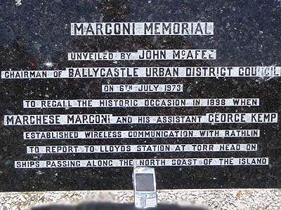 Marconi used radio to reach Rathlin Island