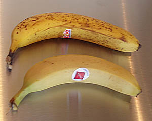 Bananas - acceptable and unacceptable to serve