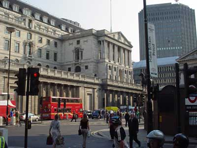 The Bank of England, City of London