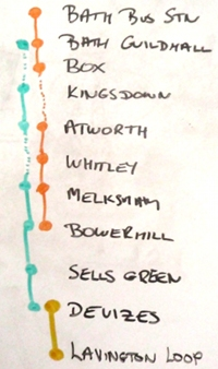 Bath - Melksham - Devizes - Easterton bus routes from September 2010