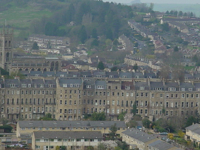 A view across the valley, Bath