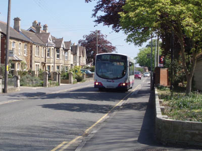 The bus to Bath in Melksham