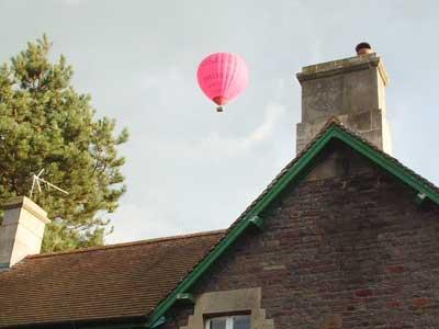 Bristol Balloon Festival overhead
