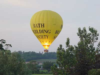 Hot Air Balloon - taken from our training centre