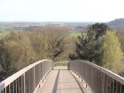 The bridge to the inner keep at Beeston Castle