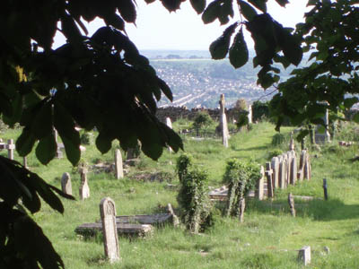 Graveyard on Lansdown, above Bath