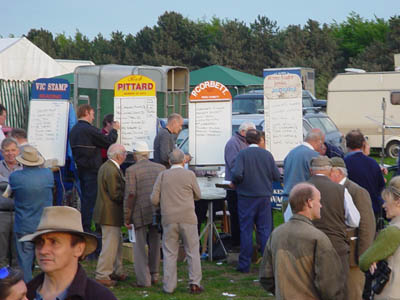Betting Stands at Larkhill races on Salisbury Plain
