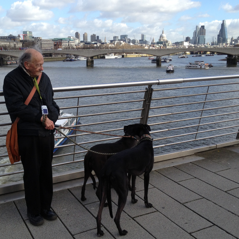 Dad - Norman Ellis - in London a couple of years back