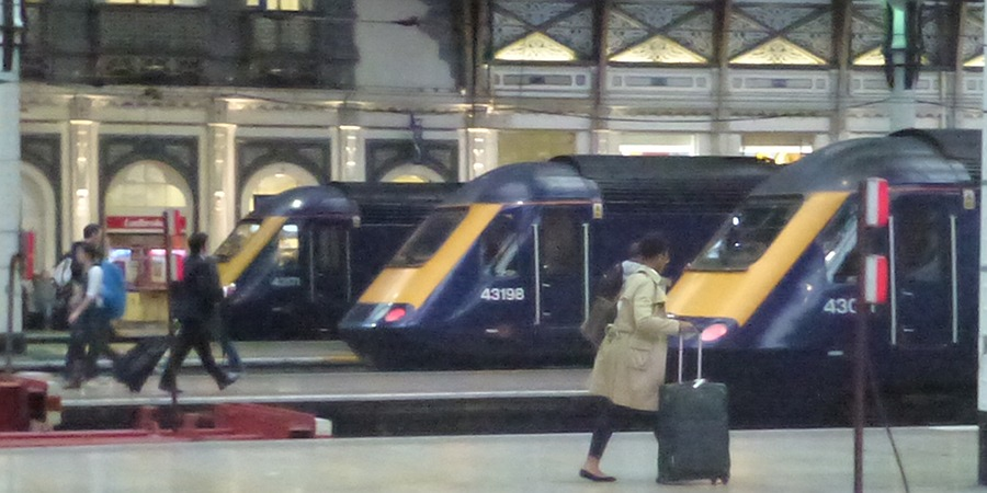 Trains at Paddington Station