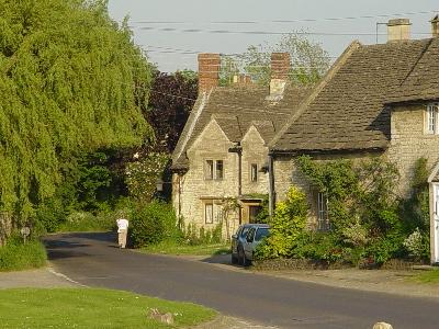 The Cotswold village of Biddestone
