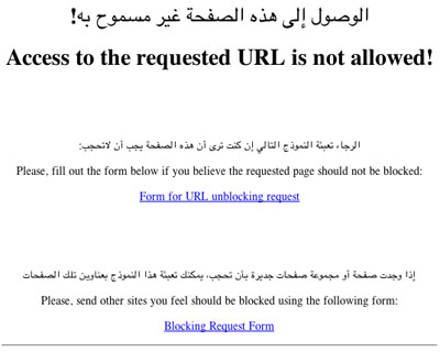 Not allowed this URL from Saudi
