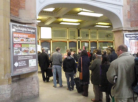Queue at Temple Meads