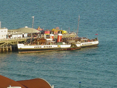 Paddle Steamer Waverly at Bournemouth pier