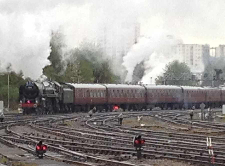 70013 Oliver Cromwell and train near Bristol
