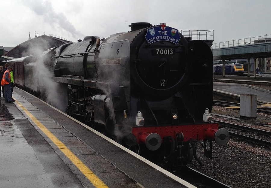 Britannia 4-6-2 and HST at BRI
