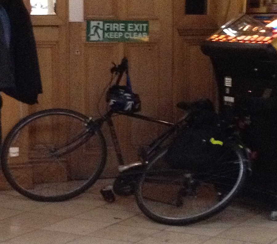 Cycle blocking fire exit