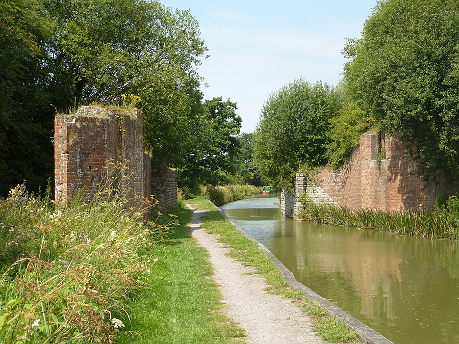 Where the Midland and South West Junction Railway crossed the Kennet and Avon Canal