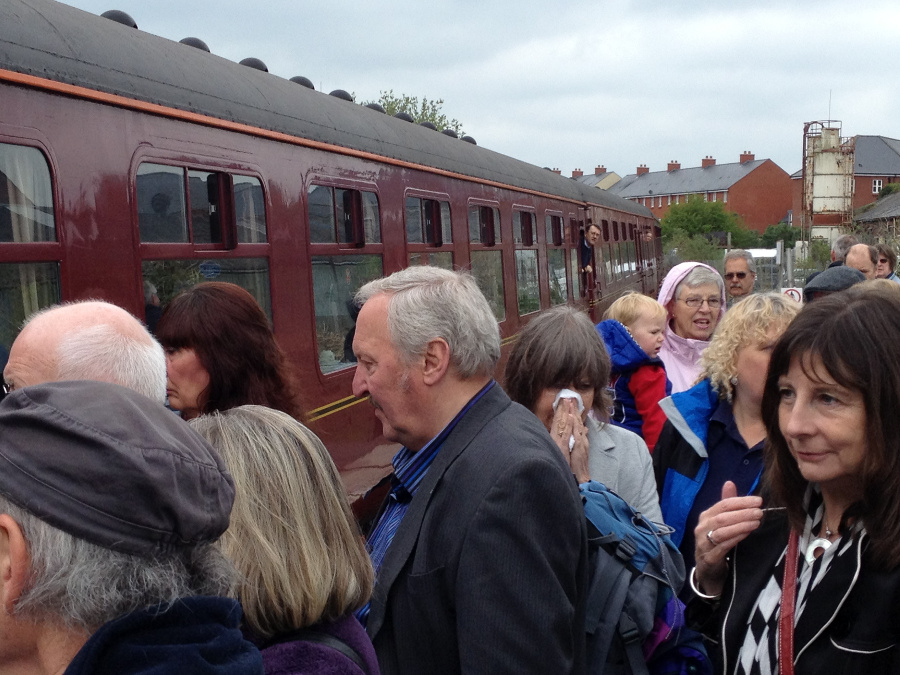 Joining a special train at Melksham