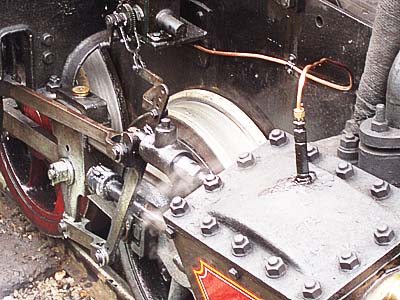 Valve gear ion steamengine at Bressingham