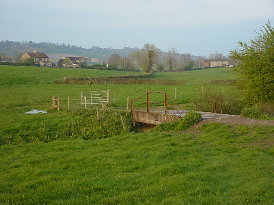 The path crosses the Clackers Brook
