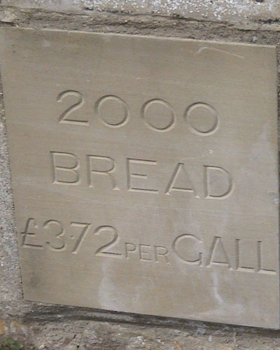 Price of bread in 1800